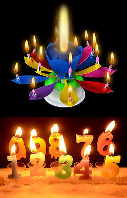 $ CDN57.89 • Buy Rotating Lotus Birthday Candle With Music And Colorful Numeral Candles (0-9)