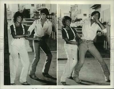 $19.99 • Buy 1980 Press Photo Erin Moran And Scott Baio Practice 1960's Dance Steps.