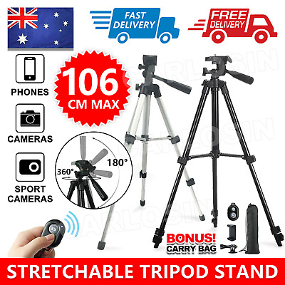 AU16.95 • Buy Universal Telescopic Camera Tripod Stand Holder Phone Mount For IPhone