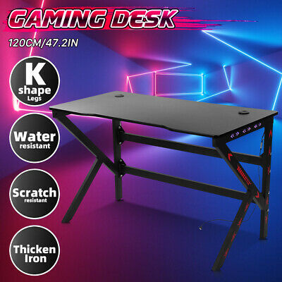 AU169.98 • Buy Gaming Chair Desk Racing Seat Setup PC Combo Office Table Carbon Fiber LED 120CM