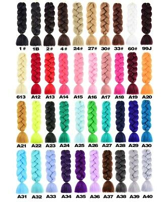 1 PCS 24  Xpression Jumbo Braids Hair Ombre Synthetic Braiding Hair Extensions • 5.68£