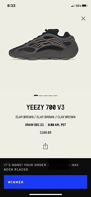 $ CDN353.61 • Buy Yeezy 700 V3 'Clay Brown' Size 7 CONFIRMED ORDER Ships ASAP