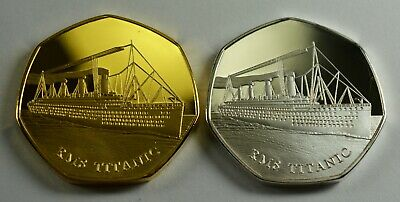 £10.99 • Buy Pair Of RMS TITANIC Silver & 24ct Gold Commemoratives. Albums/Collectors/Filler