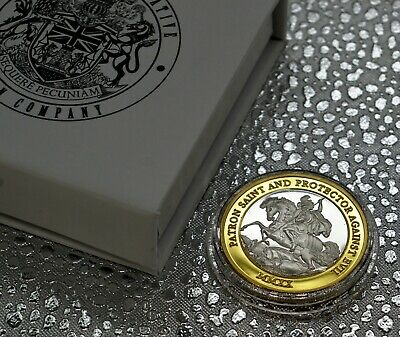 £12.99 • Buy ST GEORGE & THE DRAGON Silver & 24ct Gold Commemorative In Presentation/Gift Box