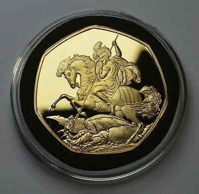 £8.49 • Buy ST GEORGE & THE DRAGON 24ct Gold Commemorative In Capsule. Patron Saint, England