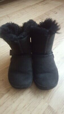 Fitflop Girls Boots Black Suede Size 10 Infant Great Condition • 12.99£
