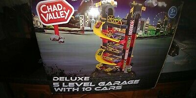 £49.99 • Buy Chad Valley Deluxe 5 Level Garage & 10 Cars Set Racing Kids Play Xmas Gift