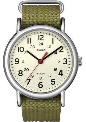 Timex Gents Easy Reader Weekender Indiglo Watch T2N651 NEW • 44.99£