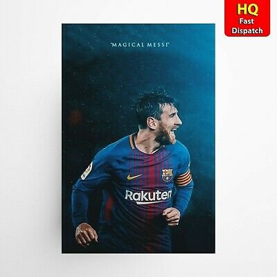 Lionel Messi 'Magical Messi' Football FC Barcelona Sports Poster A1 • 14.99£