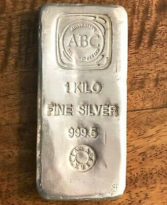 AU1350 • Buy 1 Kg ABC Cast Silver Bullion Bar 999.5