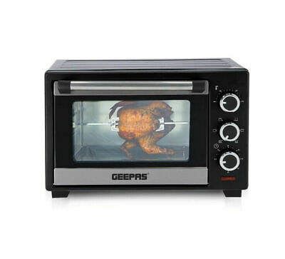 £58.99 • Buy Geepas 19L Electric Mini Toaster Oven & Grill Rotisserie Compact Cooker 1280W