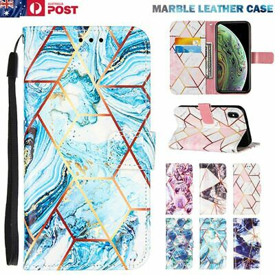 AU14.99 • Buy Marble Leather Wallet Case Cover For IPhone 12 11 Pro Mini XS Max XR SE/8/7 Plus