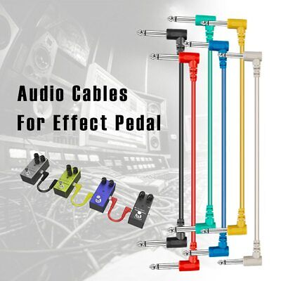 $ CDN22.35 • Buy 6pcs Guitar Effect Pedal Cables Colorful Angled Plastic Guitar Patch Cables