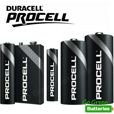 Duracell AA AAA 9V C D Procell Batteries Alkaline Was Industrial LR6 LR03 PP3   • 5.99£