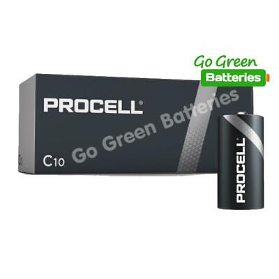 10 X Duracell C Size Industrial Alkaline Batteries Procell LR14 Cell MN1400 BABY • 11.49£