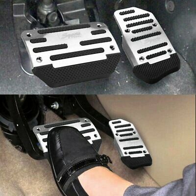 AU11.59 • Buy Silver Non Slip Automatic Gas Brake Foot Pedal Pad Cover Car Accessories Kit Set