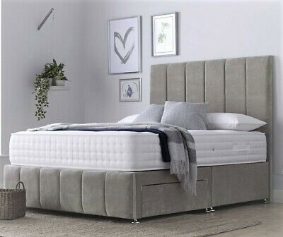 Orthopedic Divan Bed Set With Mattress Headboard 3ft 4ft6 Double 5ft King 6ft!!! • 499.99£