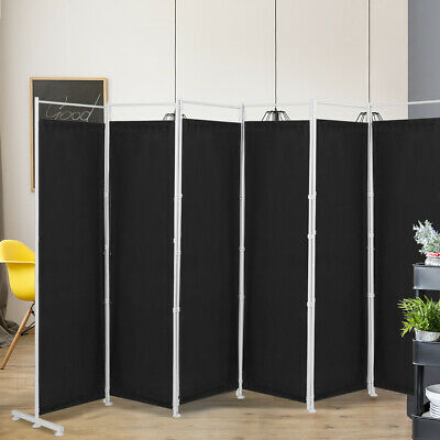 AU131.99 • Buy 6 Panel Room Divider Privacy Screen Folding Freestanding Partition W/Steel Frame