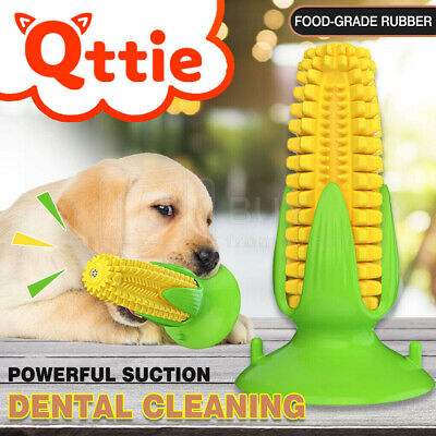 AU14.92 • Buy Dog Squeaky Chew Toys Teeth Clean Stick Corn Pet Puppy Dental Toothbrush Molar