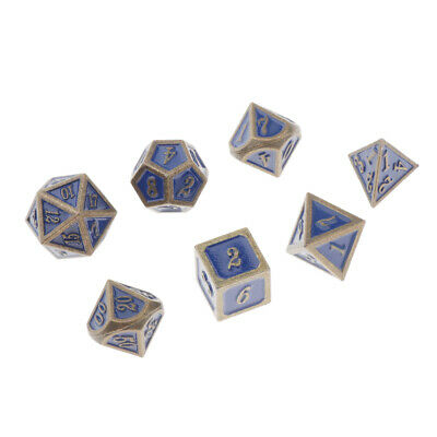 AU13.56 • Buy Set Of 7pcs Polyhedral Metal Dice For Dragon Scale D&D DND RPG Board Games