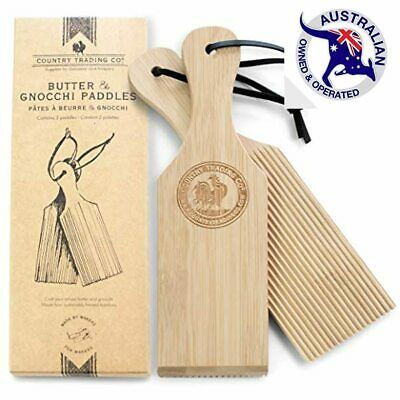 AU25.95 • Buy Gnocchi Boards And Wooden Butter Paddles To Easily Create Authentic Homemade Pas