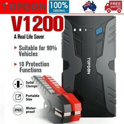 AU91.22 • Buy Jump Starter Portable Car Battery Pack 12V Auto Battery Charger Booster Jumper