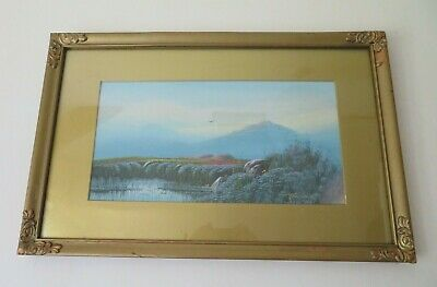 £30 • Buy Antique Vintage Moorland Dartmoor? Gouache Painting F CONSTANCE Listed Framed