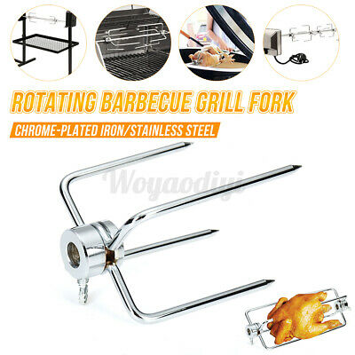 BBQ Rotisserie Roast Chicken Meat Forks Grill Meatpicks Outdoor Barbecue Clam • 6.61£
