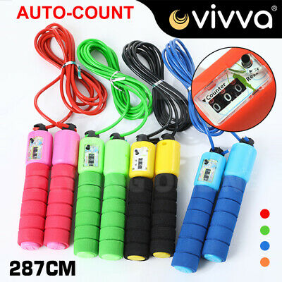 AU11.95 • Buy Digital Jump Rope Skipping Rope With Counter For Kids/Children & Adults Exercise
