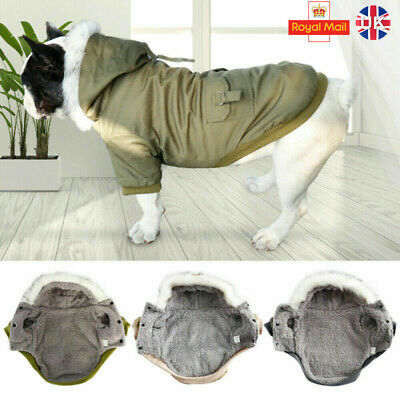 Small Pet Dog Cat Hoodie Down Jacket Winter Warm Coat French Bulldog Clothes UK • 10.09£