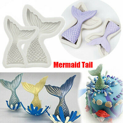 £3.79 • Buy Fairy Mermaid Tail Scale Silicone Fondant Mould Beach Animal Cake Icing Mold UK
