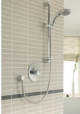 New Mira Miniduo Built In Thermostatic Mixer With Eco Shower Head Kit Chrome. • 189£