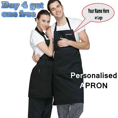 £6.49 • Buy Personalised Apron With Pocket Any Name Embroidered Kitchen Chefs 4 Cooking BBQ,