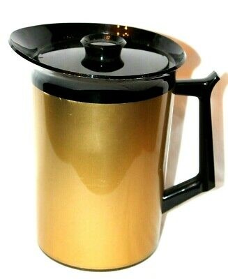 AU24.17 • Buy VTG! West Bend Thermos Thermo-Serv Insulated Beverage Server Pitcher Gold/Black