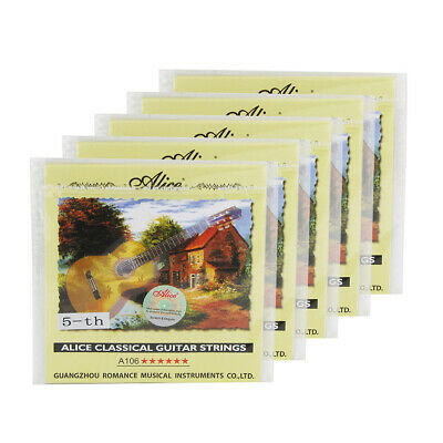 $ CDN8.31 • Buy 5PCS Alice Classical Guitar A Strings .036  Nylon & Silver Plated Copper Wound