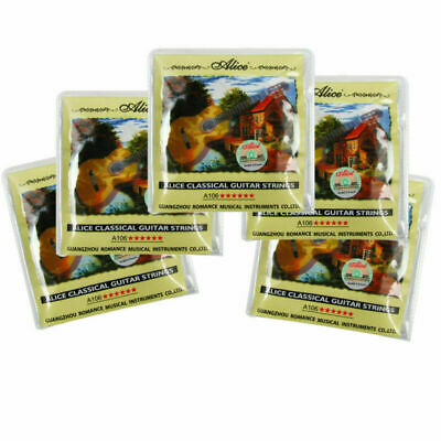 $ CDN20.59 • Buy 5 Sets Alice Classical Guitar Strings Nylon & Silver Plated Copper Alloy Wound