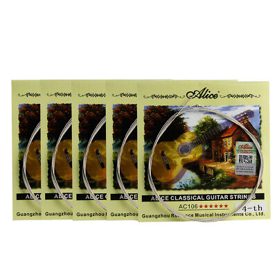 $ CDN7.89 • Buy 5PCS Alice Classical Guitar D Strings .030  Nylon & Silver Plated Copper Wound