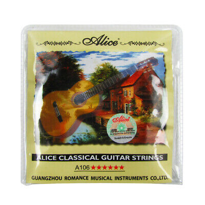$ CDN6.66 • Buy Alice Classical Guitar String Set 3 Clear Nylon & 3 Copper Alloy Wound Strings