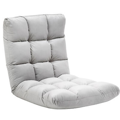 £54.99 • Buy HOMCOM Adjustable Folding Lazy Floor Sofa Chair Lounge Seat Gaming Couch Bed