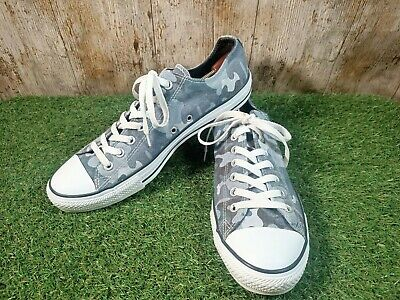 All Star Converse Low Top Blue/Grey Camouflage Size 11 UK 45 EUR • 15.90£