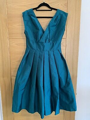 Dolly Dagger Full Circle Emerald Green Fit And Flare Dress - Vintage Style • 32£