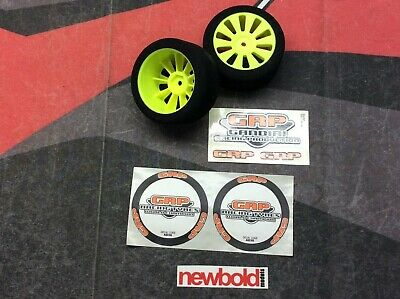 RC 1/10th Model Touring Car Wheels & Foam Tyres, 45 Sh, 30mm Wide, Gandini, New • 9.95£