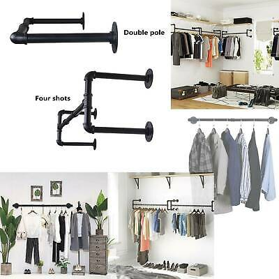 £22.99 • Buy Industrial Pipe Clothing Rack Wall Mounted Clothes Rail Hanging Display Rack XY