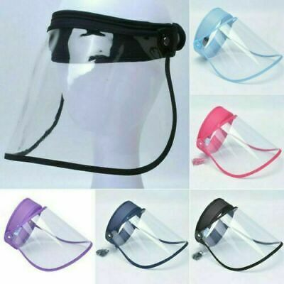 Plastic Shield Mask Clear Shield Face PPE Transparent Full Visor Face Protection • 6.93£