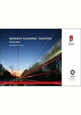 ICAEW Business Planning: Taxation 2014: Passcards By BPP Learning Media Book The • 5.99£