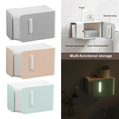 AU28.19 • Buy Wall-Mount Toilet Paper Holder Kitchen Dispenser USB Charging Large Capacity