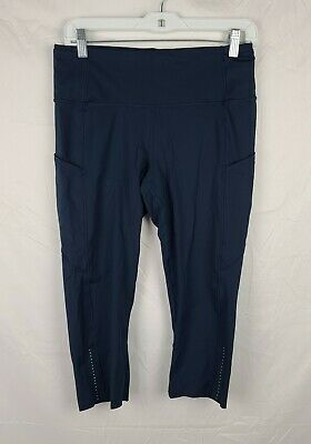 $ CDN56.48 • Buy Lululemon Women's Navy Blue Cropped Leggings Sz 10