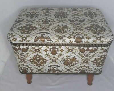 £32.98 • Buy  Sewing Box Stool Ottoman Storage With Lid Eagle Liberty Bell Excellent Conditio