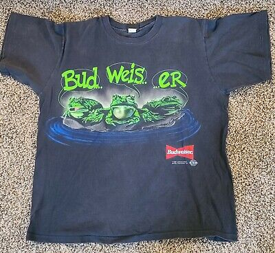 $ CDN82.45 • Buy Budweiser Frogs T-shirt Vintage Single Stitch Size XL Your Pad Or Mine 1995