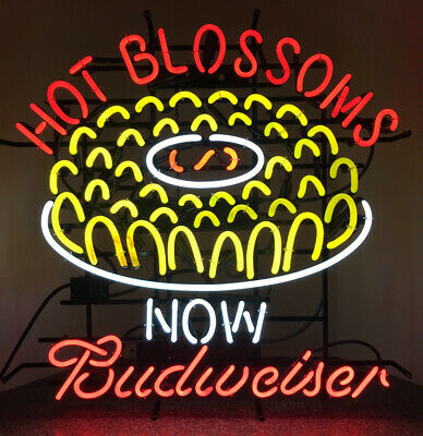 $ CDN441.91 • Buy Budweiser Beer Texas Roadhouses Hot Blossoms  Advertising Neon Sign RARE